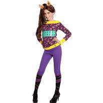 Girls Classic Clawdeen Wolf Costume - Monster High