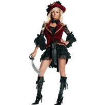 Adult Velvet Pirate Costume