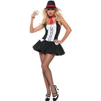 Adult Sexy Gangster Costume Deluxe