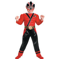 Toddler Boys Red Ranger Muscle Costume - Power Rangers Samurai