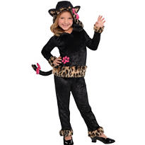 Girls Leopard Grrrl Cat Costume