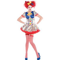 Adult Cotton Candy Clown Costume