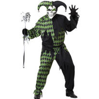 Adult Jokes On You Evil Jester Costume Plus Size