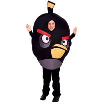 Boys Black Angry Birds Costume