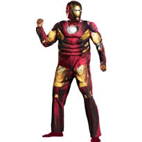 Adult Mark VII Iron Man Muscle Costume Plus Size