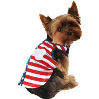 Stars and Stripes Dog T-Shirt
