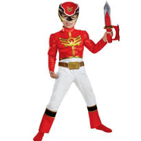 Toddler Boys Red Ranger Muscle Costume - Power Rangers Megaforce