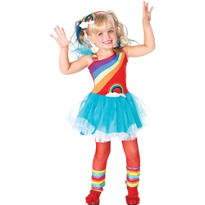 Toddler Girls Rainbow Doll Costume