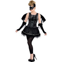 Teen Girls Midnight Raven Costume