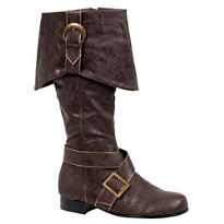 Adult Brown Pirate Boots