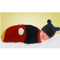 Baby Crochet Cocoon Mickey Mouse Costume