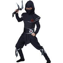 Boys Midnight Ninja Warrior Costume