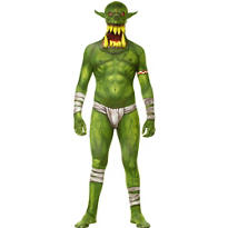 Boys Green Jaw Dropper Orc Morphsuit