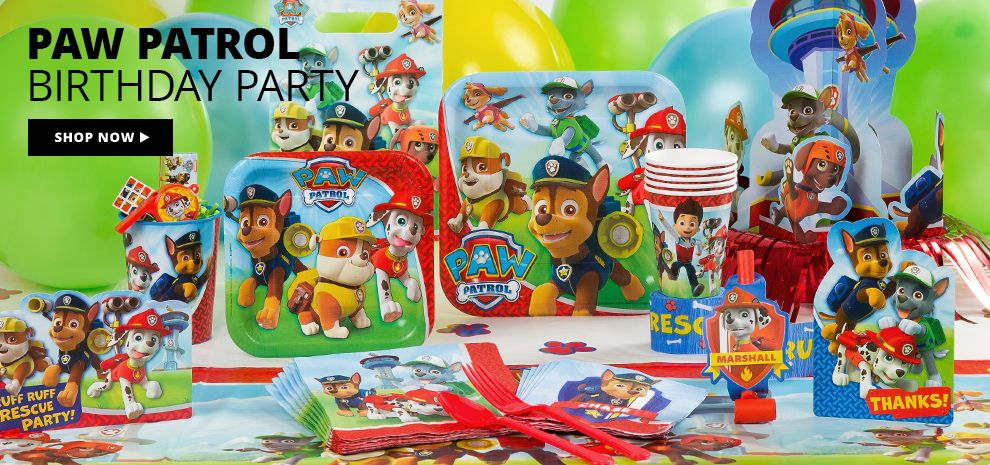 PAW Patrol Birthday Party Supplies Shop Now