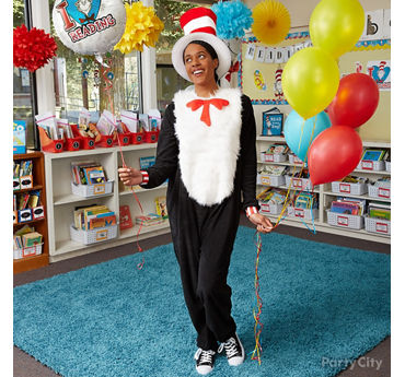 Cat in the Hat Teacher Costume Idea
