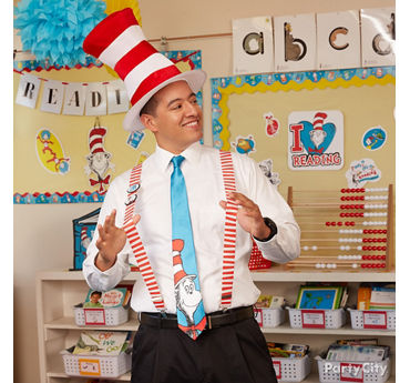 Cat in the Hat Teacher Outfit Idea