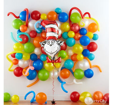 Reading Party Balloon Wall Idea