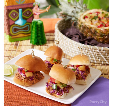 Hawaiian Pulled Pork Sliders Idea