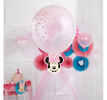 Minnie Tulle Balloon Decorating Idea