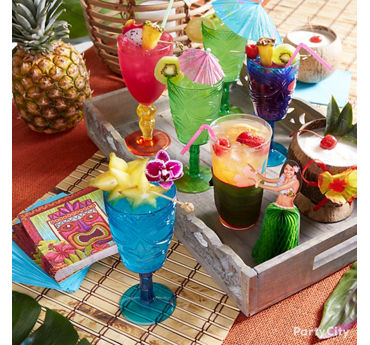 Luau Tiki Bar Styling Idea