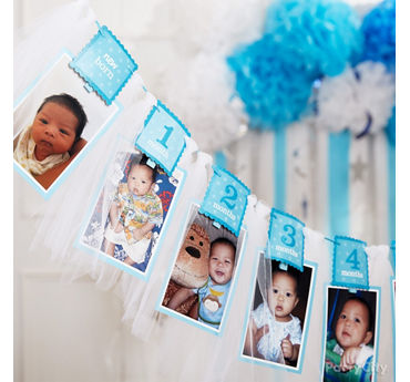 Twinkle Boy Photo Garland Idea