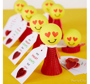 Smiley Valentines Easy Favor Idea