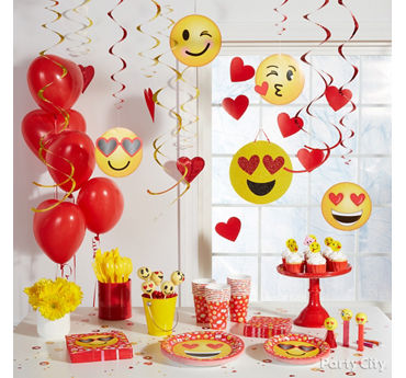 Smiley Valentines Party Decorations