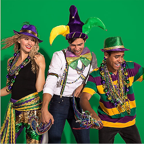 Mardi Gras Easy Outfit Idea  sc 1 st  Party City & Mardi Gras Easy Outfit Idea - Mardi Gras Party Ideas - Holiday Party ...