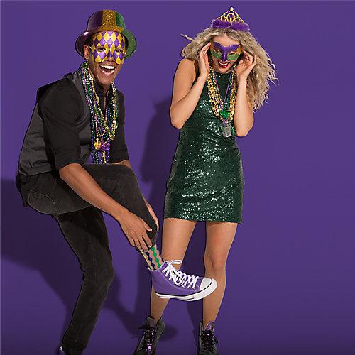 Mardi Gras Festive Socks Idea