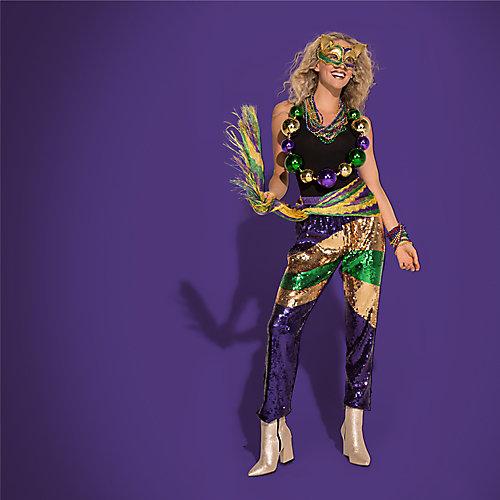 Mardi Gras Sequin Outfit Idea
