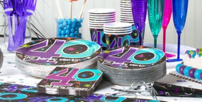 The Party Continues 40th Birthday Party Supplies Party City