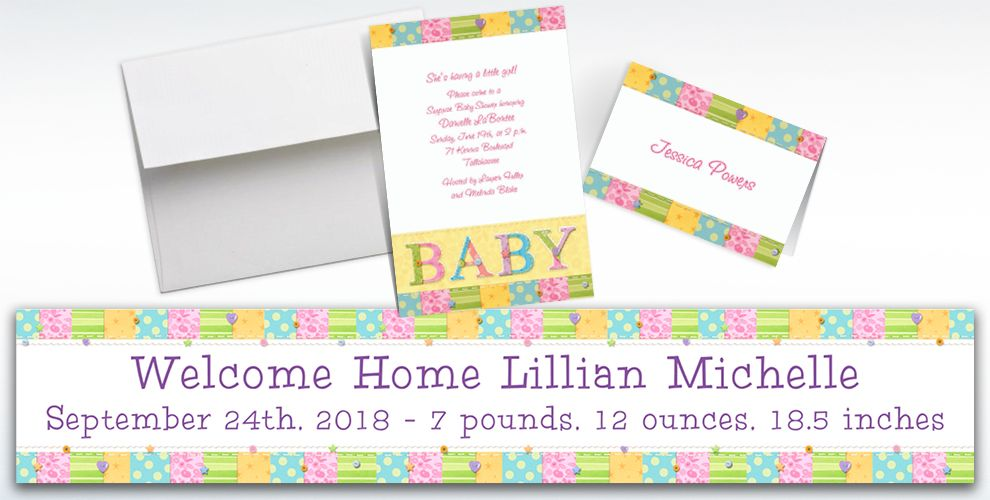 Custom Cute As a Button Baby Shower Invitations & Thank You Notes ...