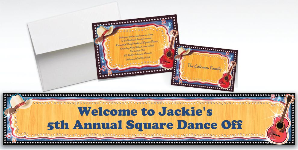 Custom Country Western Invitations and Thank You Notes