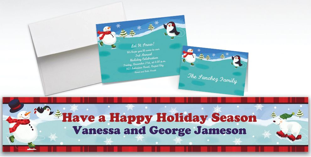 Custom Holiday Fun Invitations and Thank You Notes