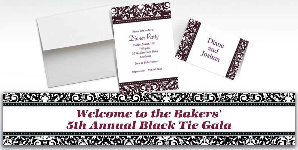 Custom Formal Affair Invitations and Thank You Notes