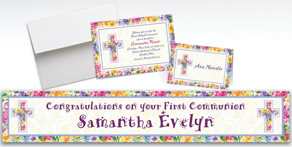 Custom Joyful Blessing Invitations and Thank You Notes