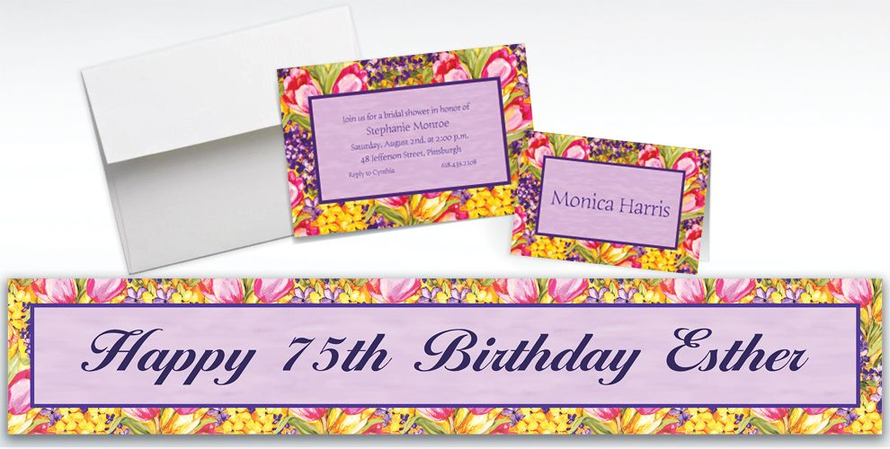 Custom Tulips Invitations and Thank You Notes