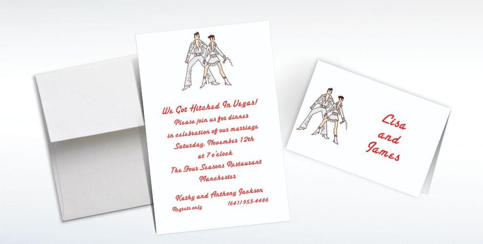 Custom Viva Las Vegas! Wedding Invitations and Thank You Notes