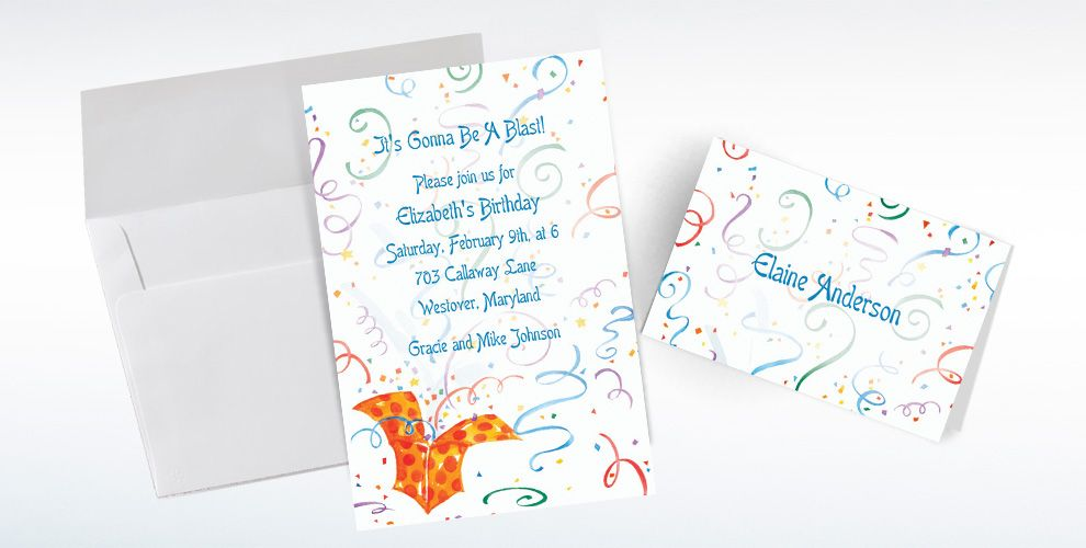 Custom Exploding Present Invitations and Thank You Notes