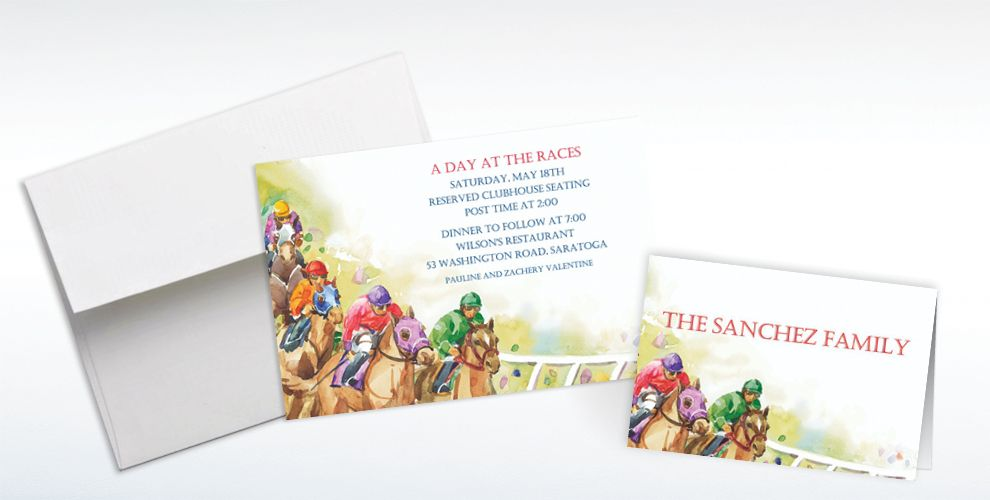 Custom Racehorses Invitations and Thank You Notes