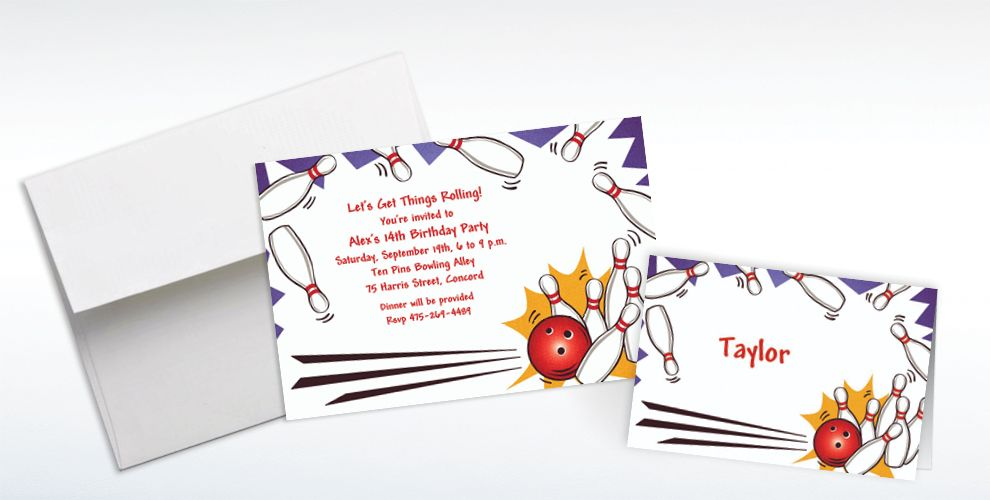 Custom Strike! Invitations and Thank You Notes