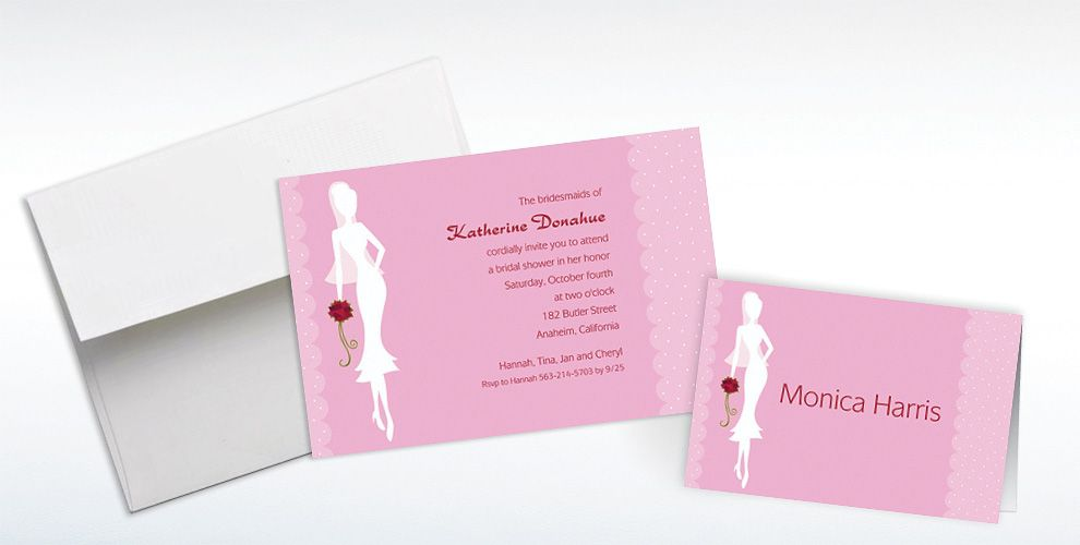Custom Sassy Bride Bridal Shower Invitations and Thank You Notes