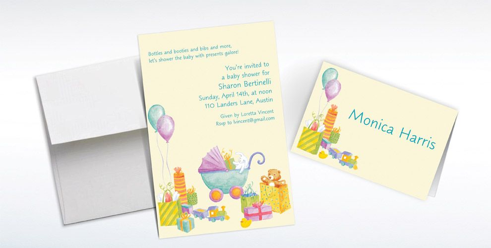 Custom It's a Baby Shower! Baby Shower Invitations and Thank You Notes