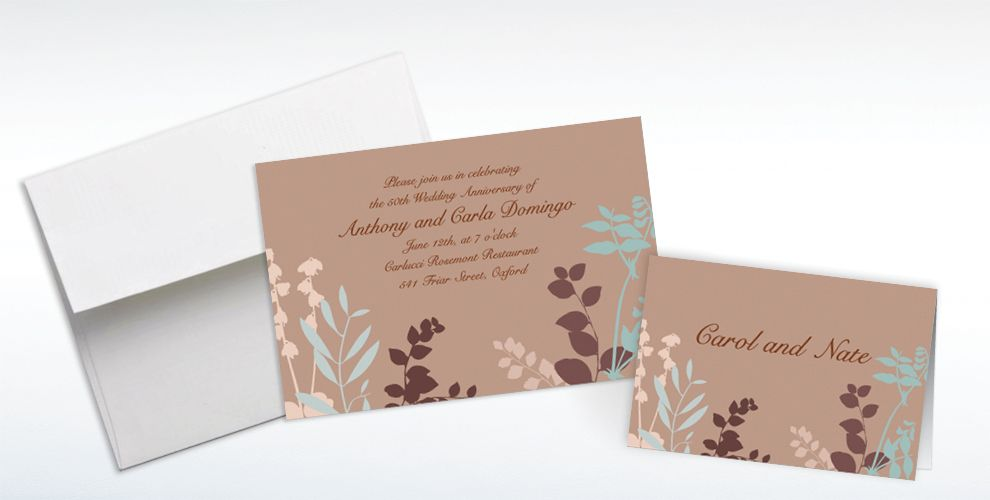 Custom Subdued Silhouette Invitations and Thank You Notes