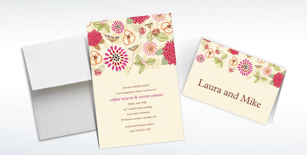 Custom Prancing Pattern Warm Invitations and Thank You Notes