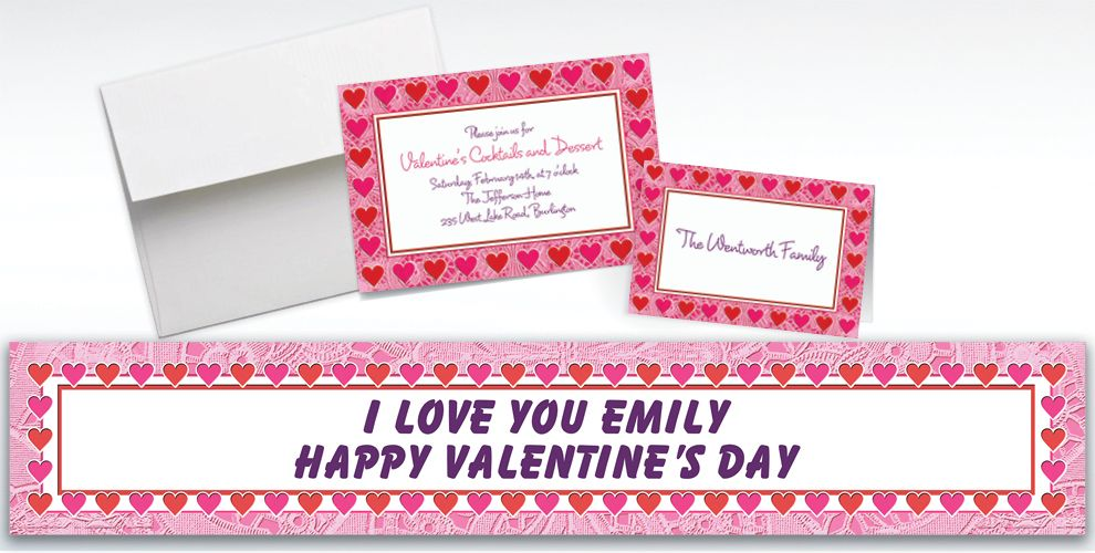 Custom Key To Your Heart Valentine's Day Invitations and Thank You Notes
