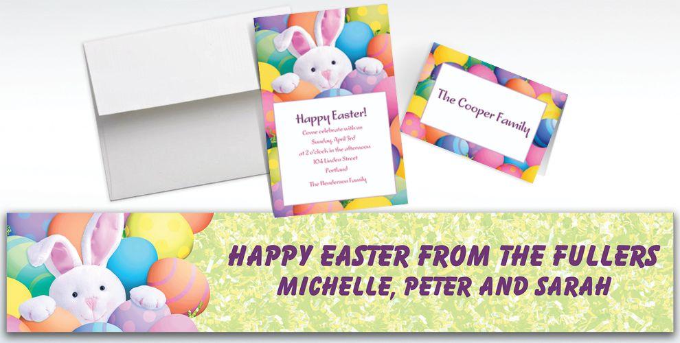 Custom Peekaboo Bunny Invitations and Thank You Notes