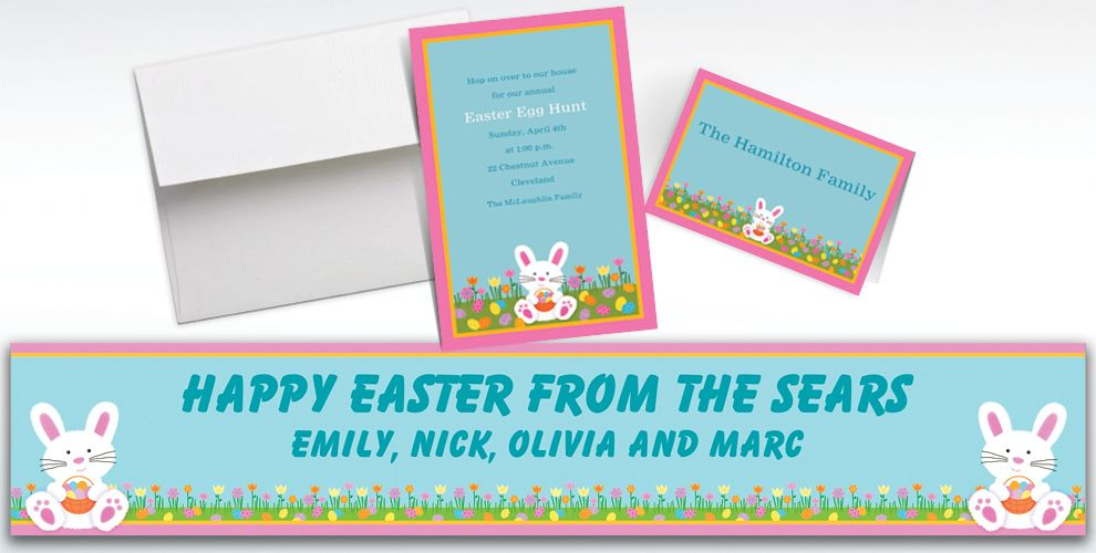 Custom Easter Friends Invitations and Thank You Notes