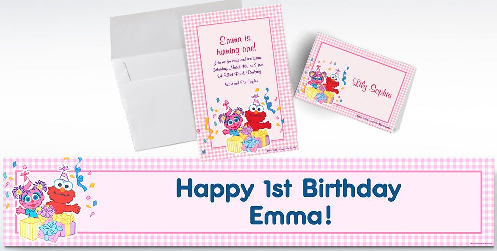 Custom Abby Cadabby 1st Birthday Invitations and Thank You Notes