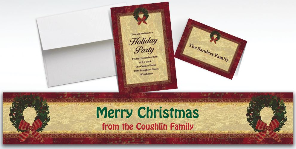 Custom Rustic Christmas Invitations and Thank You Notes